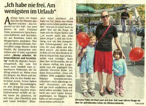 Artikel S. 22 Münchner Abendzeitung 11.10.2013