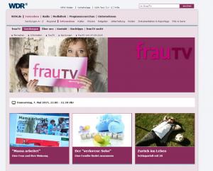 Frau TV Screen