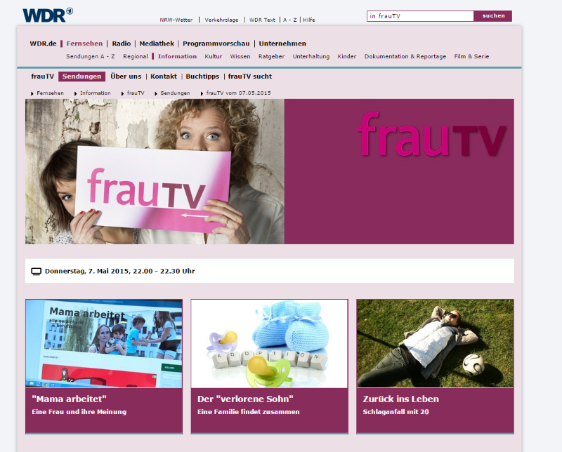 Frau TV Screen