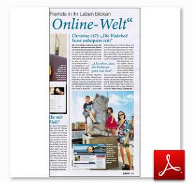 """Beitrag über bloggende Frauen in Zeitschrift """"Laura"""""""