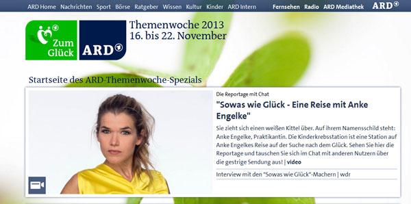 Screenshot ARD Themenwoche Glück