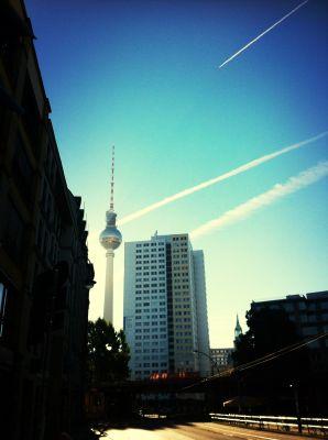 Blick auf Fernsehturm am Alex, Foto: Hauptstadtmädchen
