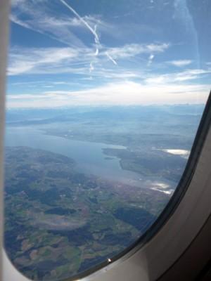 Bodensee und Konstanz von oben