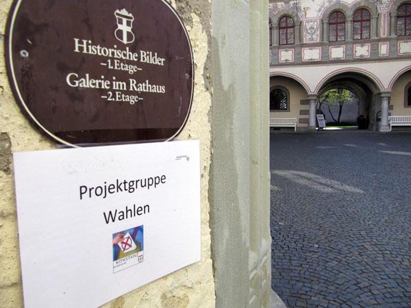 Aufgang zum Wahlamt Konstanz