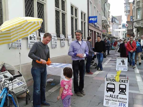 Wahlkamf in der Rosgartenstraße