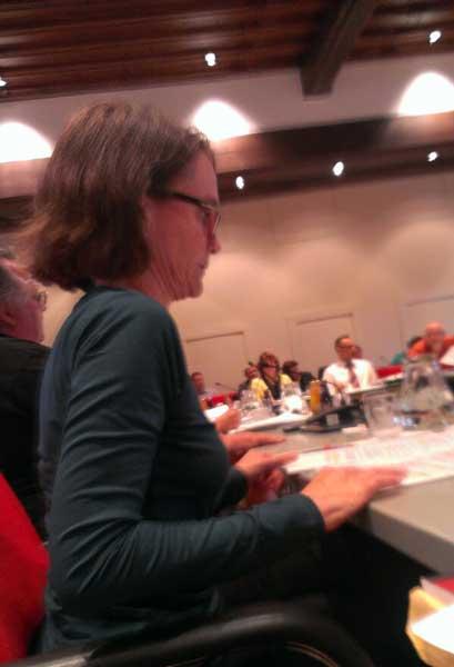 Erste Sitzung im Sozialausschuss. Foto: Matthias Schäfer, der rechts neben mir saß.