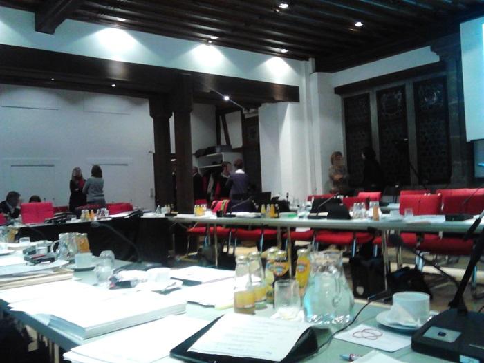 Sitzungspause im Ratssaal