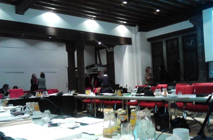 Sitzungspause im Ratssaal von Konstanz