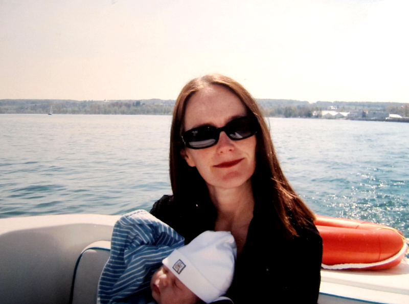 Christine mit Baby