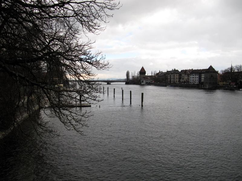 Seerhein Blick Richtung Bodensee und Alpen, 2.2.2015
