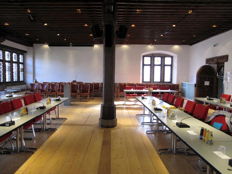 Ratssaal in Konstanz, vor einer Sitzung