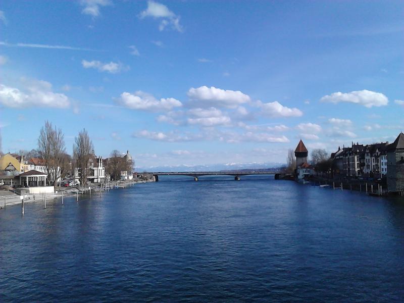 Rhein bei Konstanz Anfang März