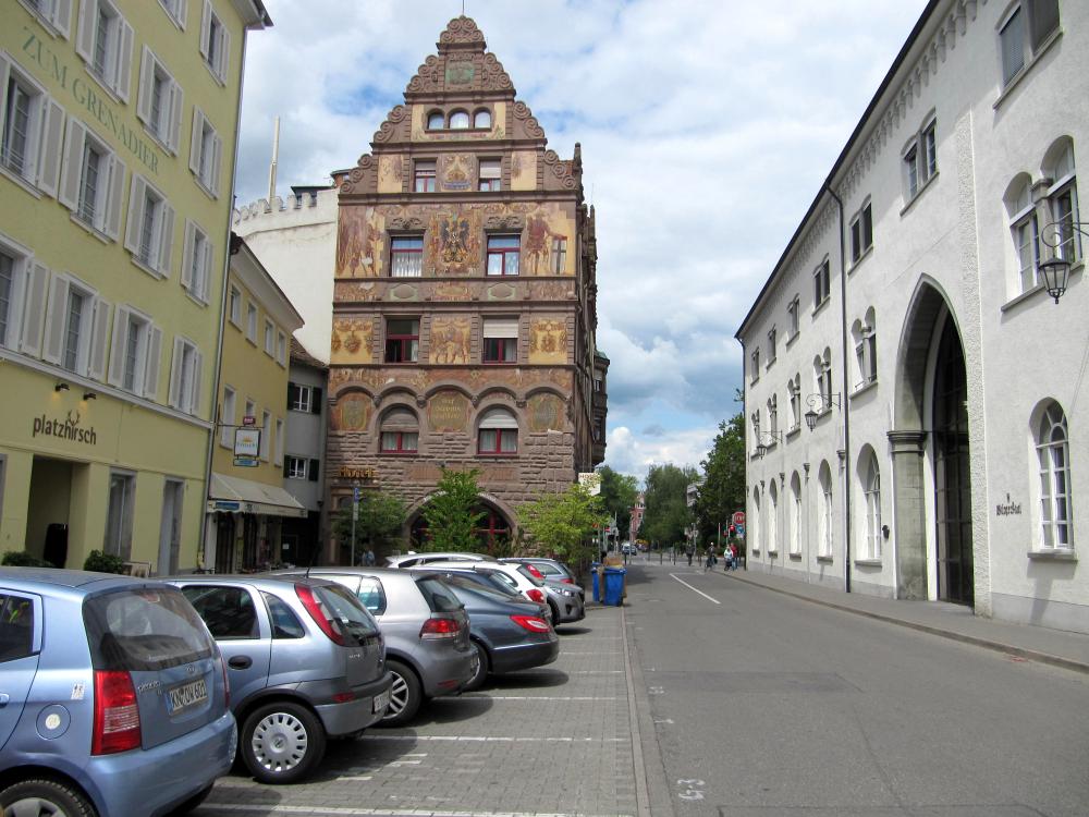 Stephansplatz, Konstanz. Mit Hotel Graf Zeppelin.