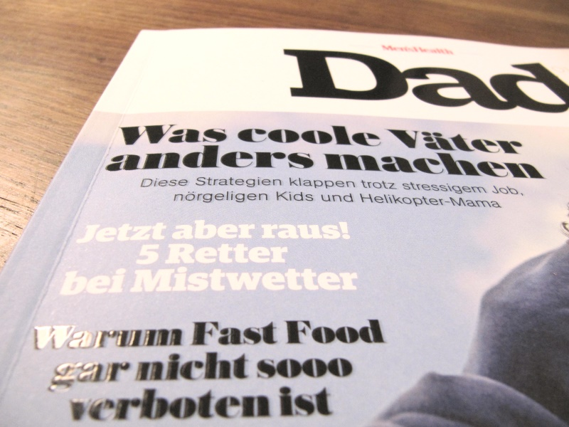 Dad Magazin Cover Detail