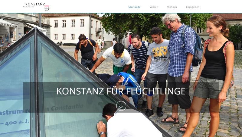 Webseite Konstanz für Flüchtlinge