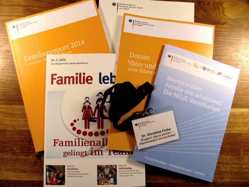 Unterlagen Familienministerium