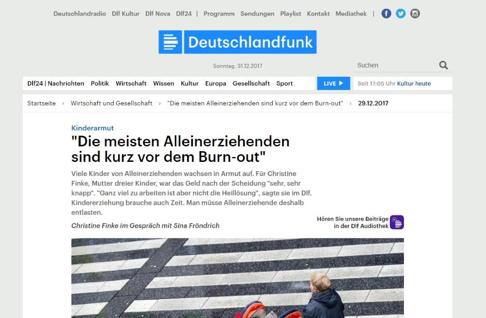 Schriftliche Version des Interviews Deutschlandfunk