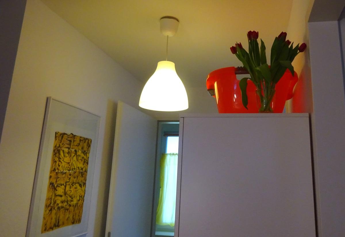 Tulpen auf Schrank