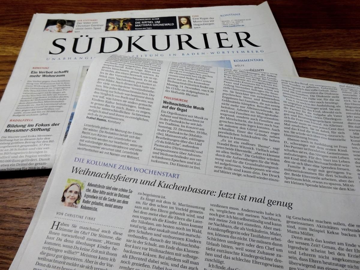 Südkurier Kolumne Christine Finke